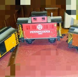 3 train cars